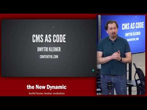 The New Dynamic - CMS as Code- Dmytri Kleiner