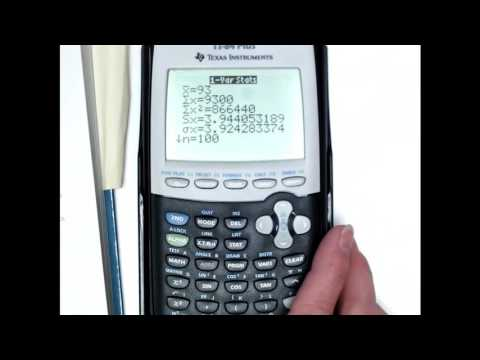 Weighted Mean Using TI-84 Example
