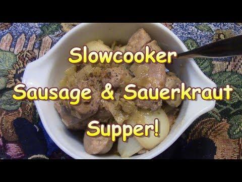 Slow Cooker Sausage & Sauerkraut Supper! It SCHMECKS
