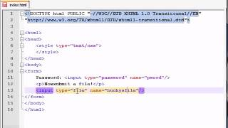 XHTML and CSS Tutorial   44   Passwords & Upload Buttons   YouTube 360p