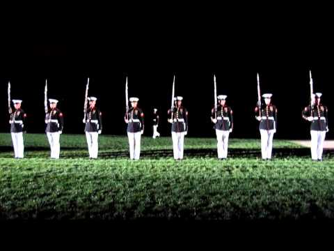 United States Marine Corps Silent Drill Platoon, Washington DC, 8/24/12 Evening Parade - 8th and I