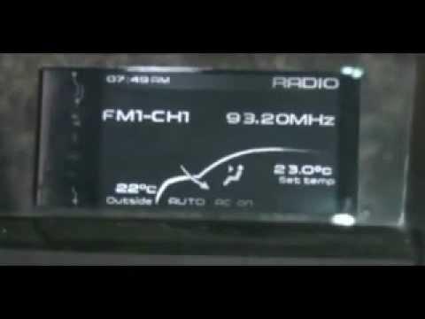 XUV500 W6 Clock Setting Procedure