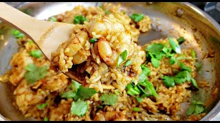 Yellow Curry Shrimp Rice Recipe   Curry Coconut Rice Recipe