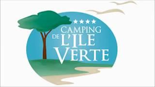 Le camping de l'Ile Verte vu du ciel, entre Saint-Malo et le Mont-Saint-Michel
