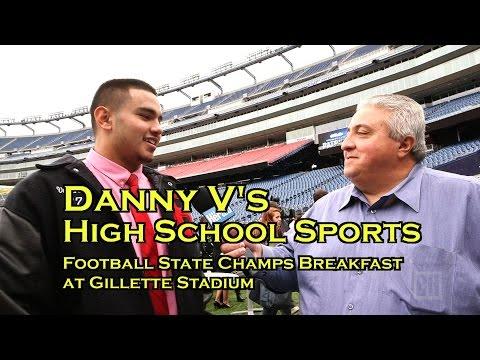 MIAA high school football state champions breakfast at Gillette Stadium