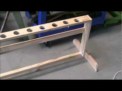 Fishing Rod Rack Pt2 Woodworking Masterclass with Steve