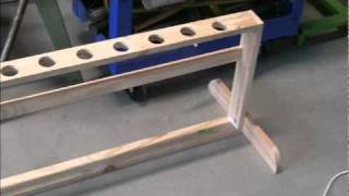 Woodworking Projects Se1 Ep8 ,fishing Rod Rack .version 2