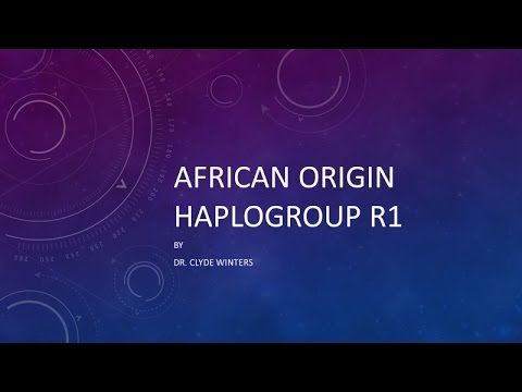 African Origin of Haplogroup R