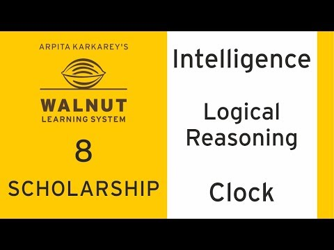 8 Scholarship - Intelligence - Logical Reasoning - Clock