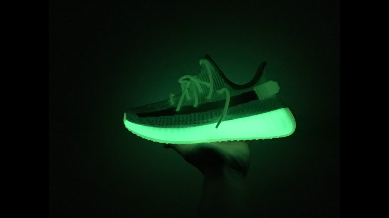 5a293d571 Yeezy V2 Glow in the Dark (Unboxing+Flaws+On Feet) from Footskicks ...