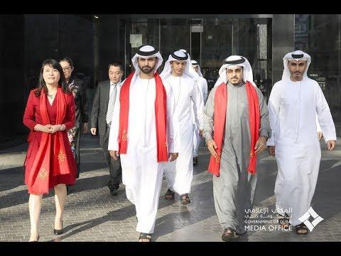 منصور بن محمد بن راشد يشهد احتفالات السنة الصينية الجديدة
