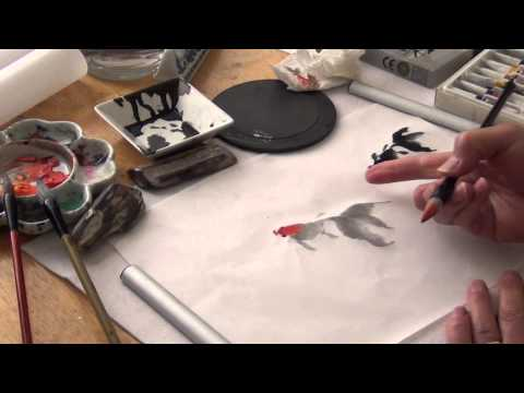 How to Paint Goldfish with Henry Li in a Chinese Brush Painting Workshop