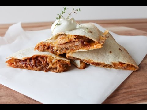 How To Make BBQ Pulled Pork Quesadillas - By One Kitchen ...