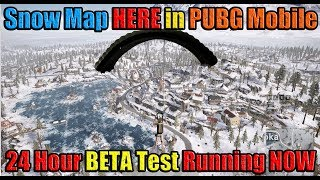 SNOW MAP (Vikendi) HERE FOR 24 HOURS in PUBG Mobile 0.10 Global Beta -  Test Now!!