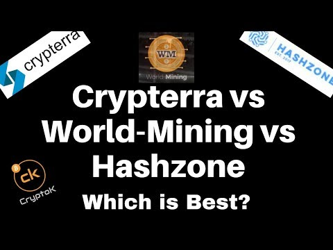 Crypterra vs World-Mining vs Hashzone | Which is Best?