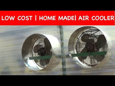 How to make AIR COOLER || LOW COST at home (With English Subtitle)