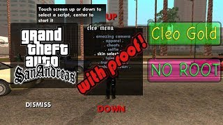GTA SANANDREAS MOD MENU for android NO ROOT!!! 100% cleo gold!✔
