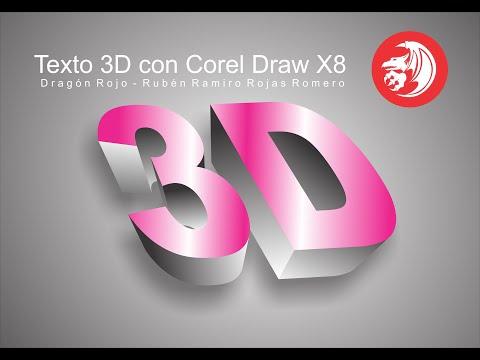 como hacer texto 3D en corel draw x7, X8  de forma Fácil