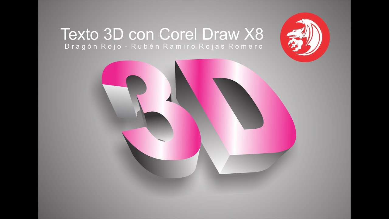 como hacer texto 3d en corel draw x7 x8 de forma f cil youtube. Black Bedroom Furniture Sets. Home Design Ideas