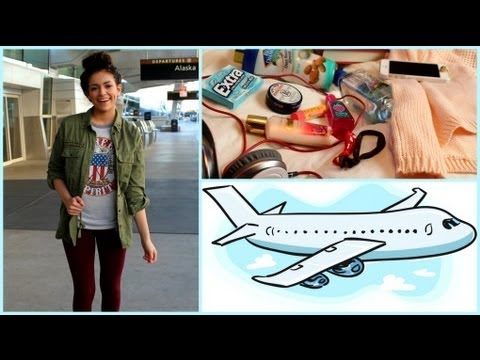 Airplane/Traveling Hair, Makeup,Outfit! +My Carry on essenti