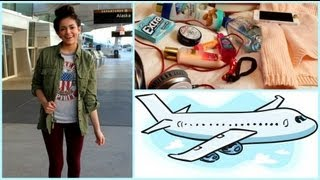 Airplane/Traveling Hair, Makeup,Outfit! +My Carry on essentials thumbnail