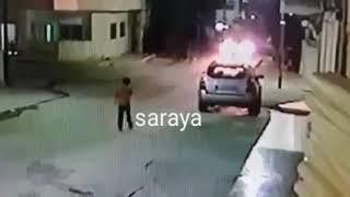 نجاة طفل صغير من الموت بأعجوبة وذلك بعد حادث تصادم بين ثلاثة مركبات