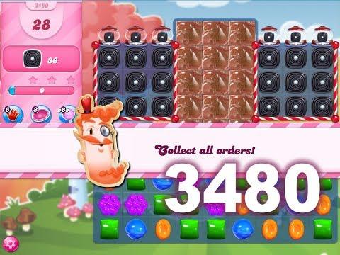 Candy Crush Saga Level 3480 (3 stars, No boosters)