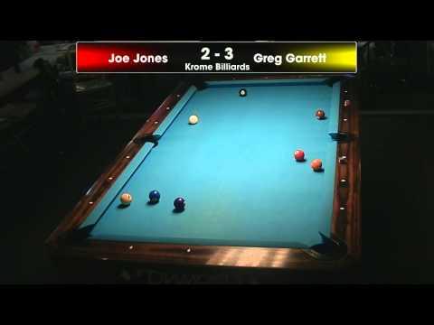 Krome Billiards 11/16/2013 Tournament  Joe Jones vs Greg Garrett