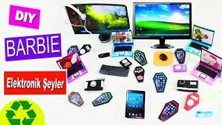 Barbie için cep telefonları mp3 TV kamera tablet bilgisayar ve dizüstü yapımı Kendin Yap