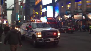 New NYPD Transit Bureau Manhattan Unit Responding On West 42nd Street Near Times Square In Manhattan