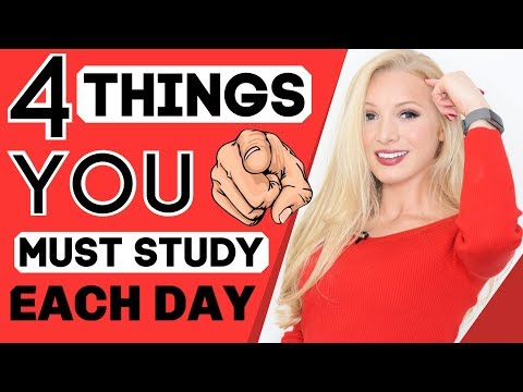 4 Things To Study EVERY DAY To Become Fluent In English