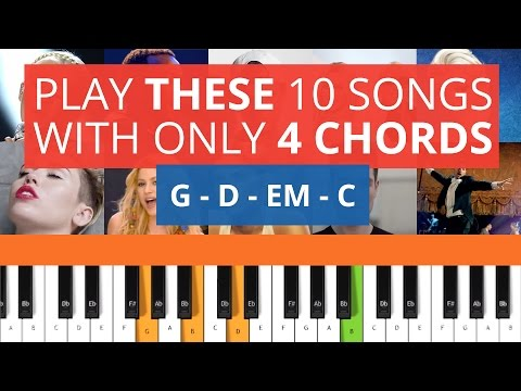 Play THESE 10 Songs with only 4 Chords on Piano