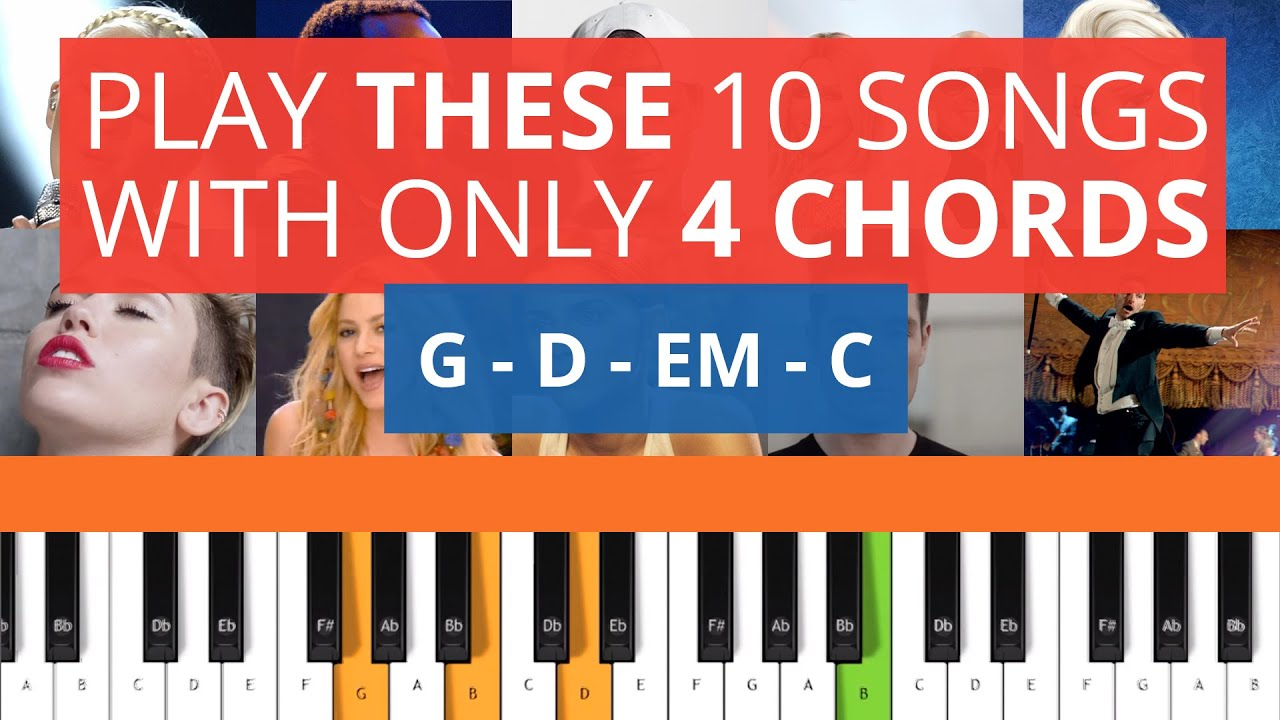Play these 10 songs with only 4 chords on piano youtube hexwebz Images