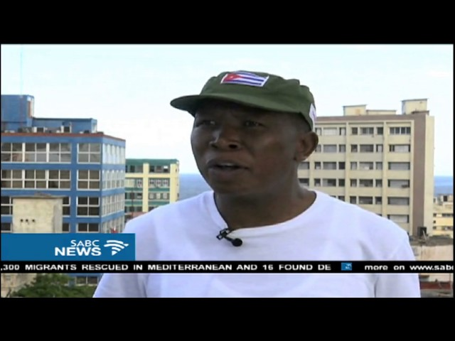 South Africa's EFF Leader Julius Malema in Cuba for Castro's funeral