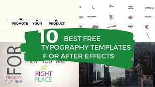 10 Best After Effects Typography Templates Free Download
