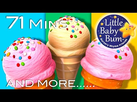Ice Cream Song  Plus Lots More Nursery Rhymes  71 Minutes Compilation from LittleBaBum!