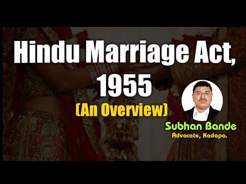 Hindu Marriage Act 1955: An Overview by Subhan Bande, Advocate, Kadapa (Cuddapah)