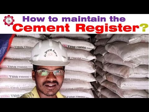 How To Maintain The Cement Register At Construction Site? सीमेंट रजिस्टर कैसे बनाए ?