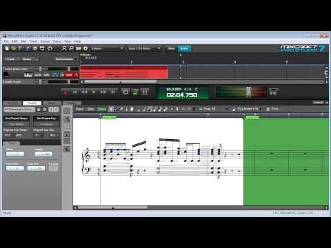 Mixcraft 7 MIDI Editing: Using The MIDI Score Editor