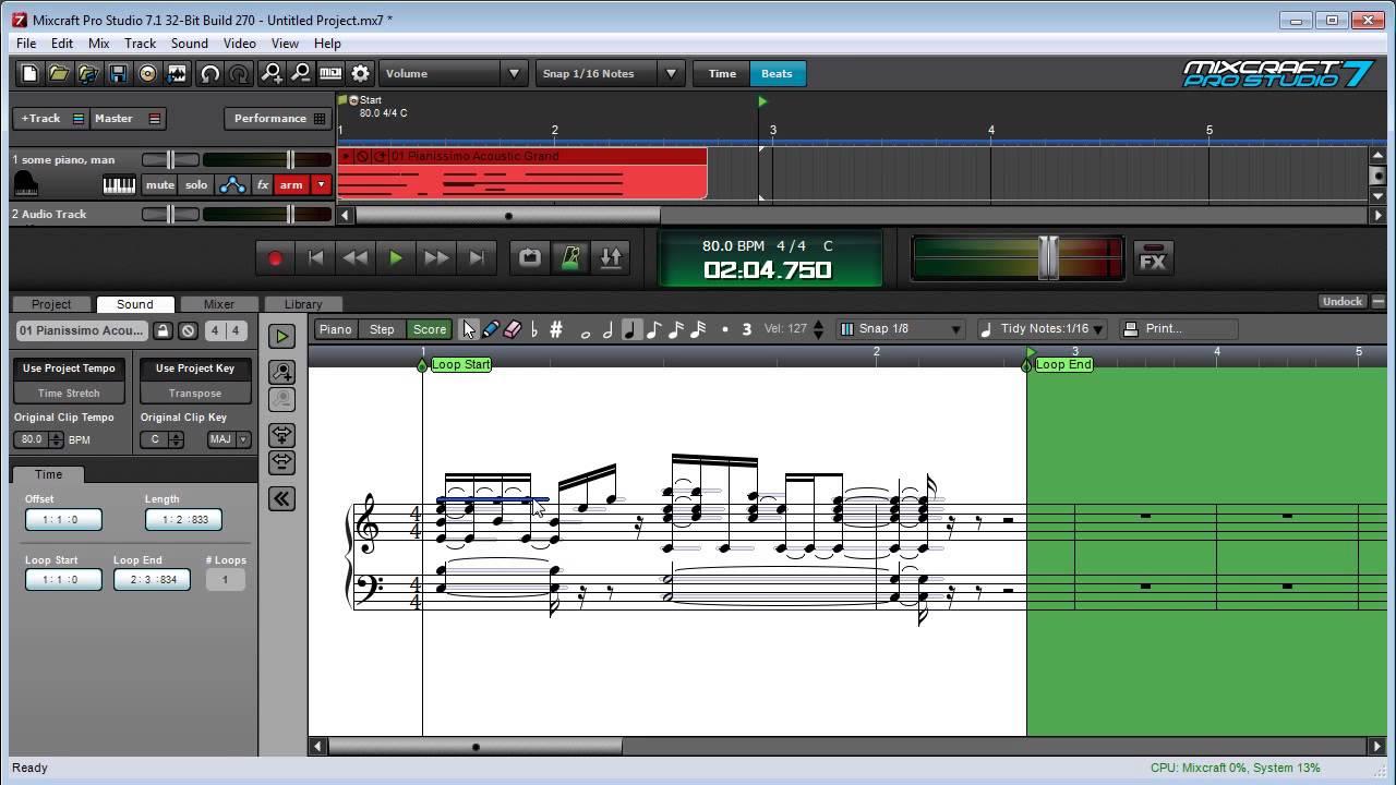 Mixcraft 7 Using the MIDI Score Editor | Mixcraft 7 Tutorials