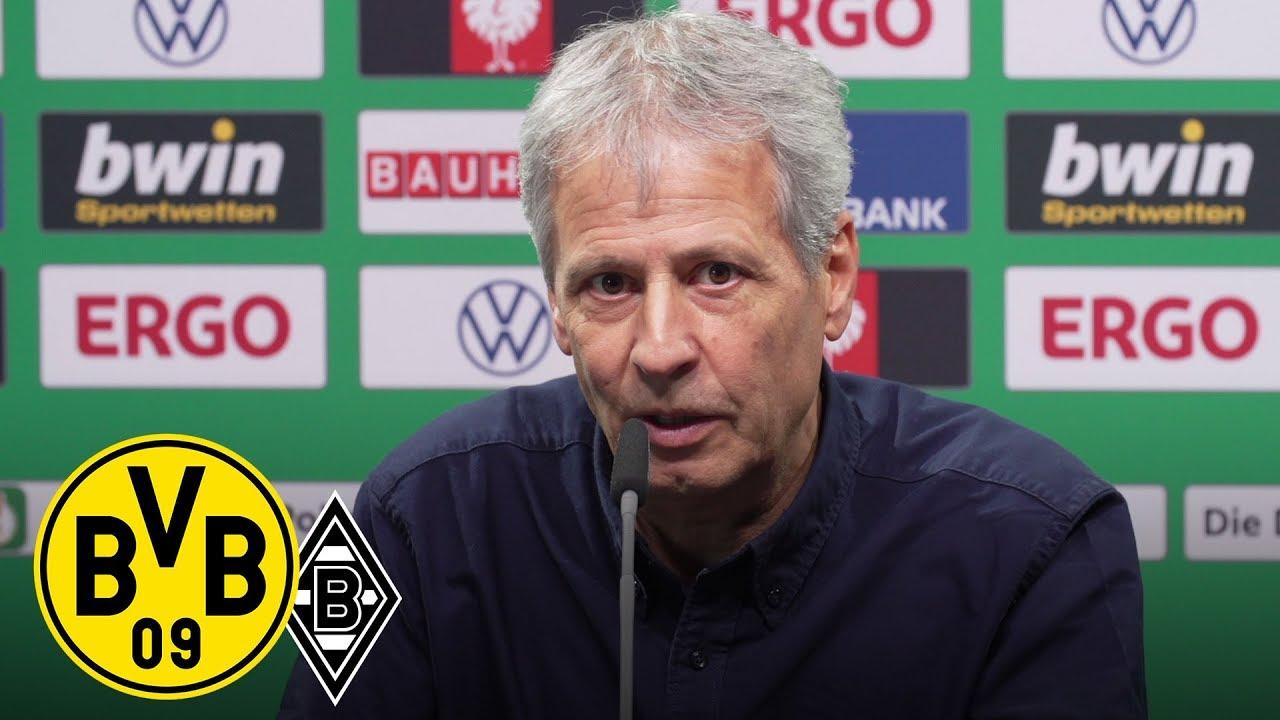 LIVE | PK mit Lucien Favre & Michael Zorc | BVB - Borussia Mönchengladbach | DFB-Pokal