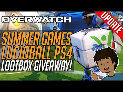 Overwatch SUMMER GAMES 2017 PS4! LOOTBOX OPENING! Lucioball + New Skins! SERVERS  DOWN!?