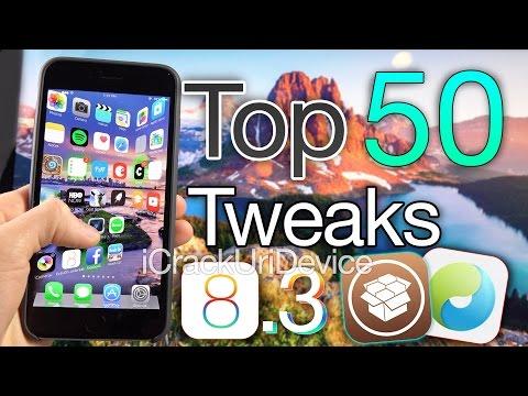 Top 50 iOS 8.3 Cydia Tweaks - Best FREE TaiG Jailbreak 8.3 Compatible & 2015 Tweaks