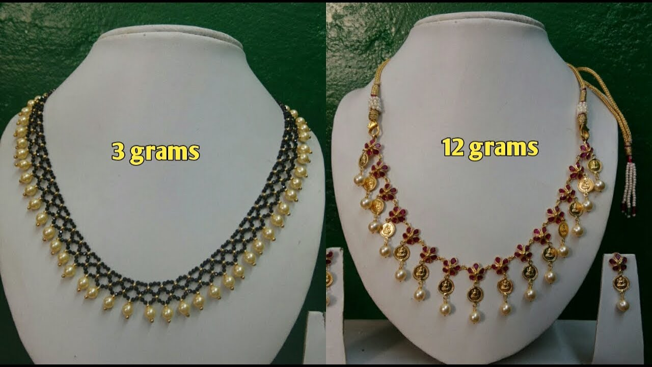 8e579a03aae978 Light weight Necklace designs || 916 Jewellery - YouTube