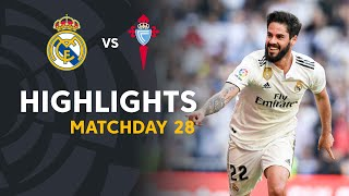 highlights real madrid vs rc celta 2 0