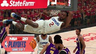 NBA 2020 Virtual Playoffs - Lakers vs Clippers Western Conference Finals Game 3  LAL vs LAC (NBA 2K)