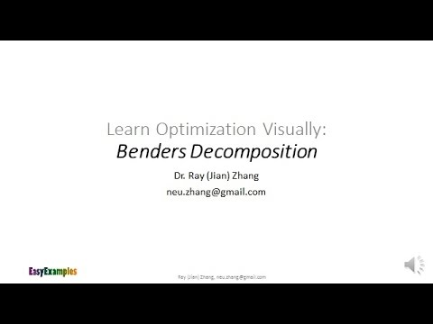 Benders Decomposition: An Easy Example