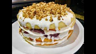 На Сковороде ДОМАШНИЙ ТОРТ на скорую руку подарит Вам хорошее настроение Домашний пирог к чаю