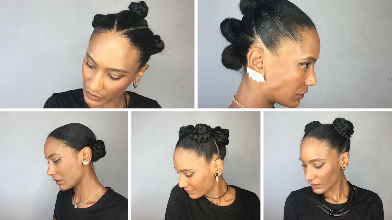 5 Coiffures A Partir De Petits Chignons Cheveux Naturels Afro