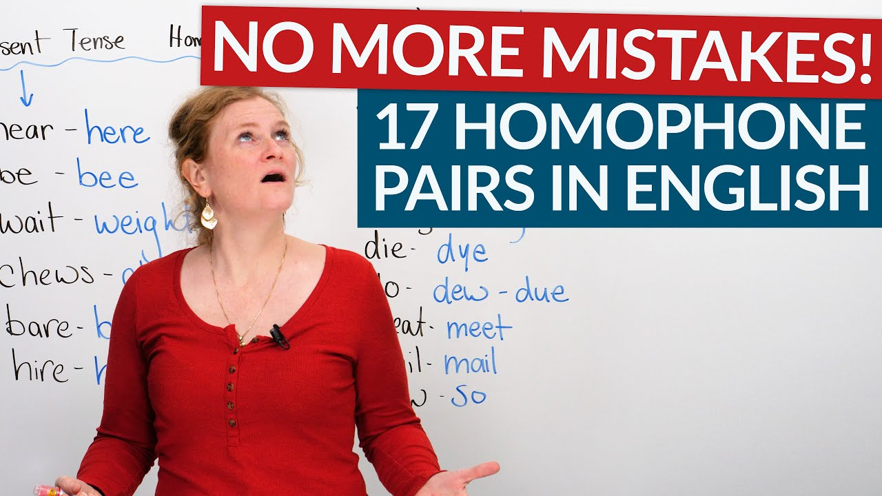 Learn 17 homophone pairs in English: be/bee, know/no, hear/here…